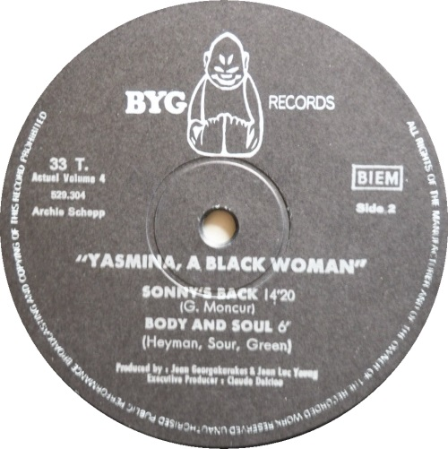 archie shepp - yasmina a black woman label 2